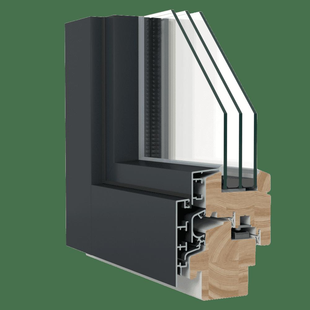 IV-78 DK-A -puu-alumiini-ikkunat image